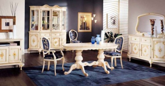 white classic dining room furniture ideas