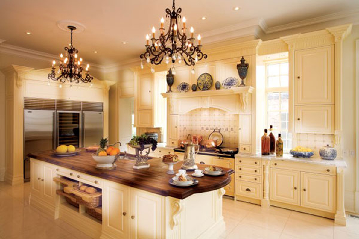 White luxury kitchen design layout for Luxury kitchen designs 2012
