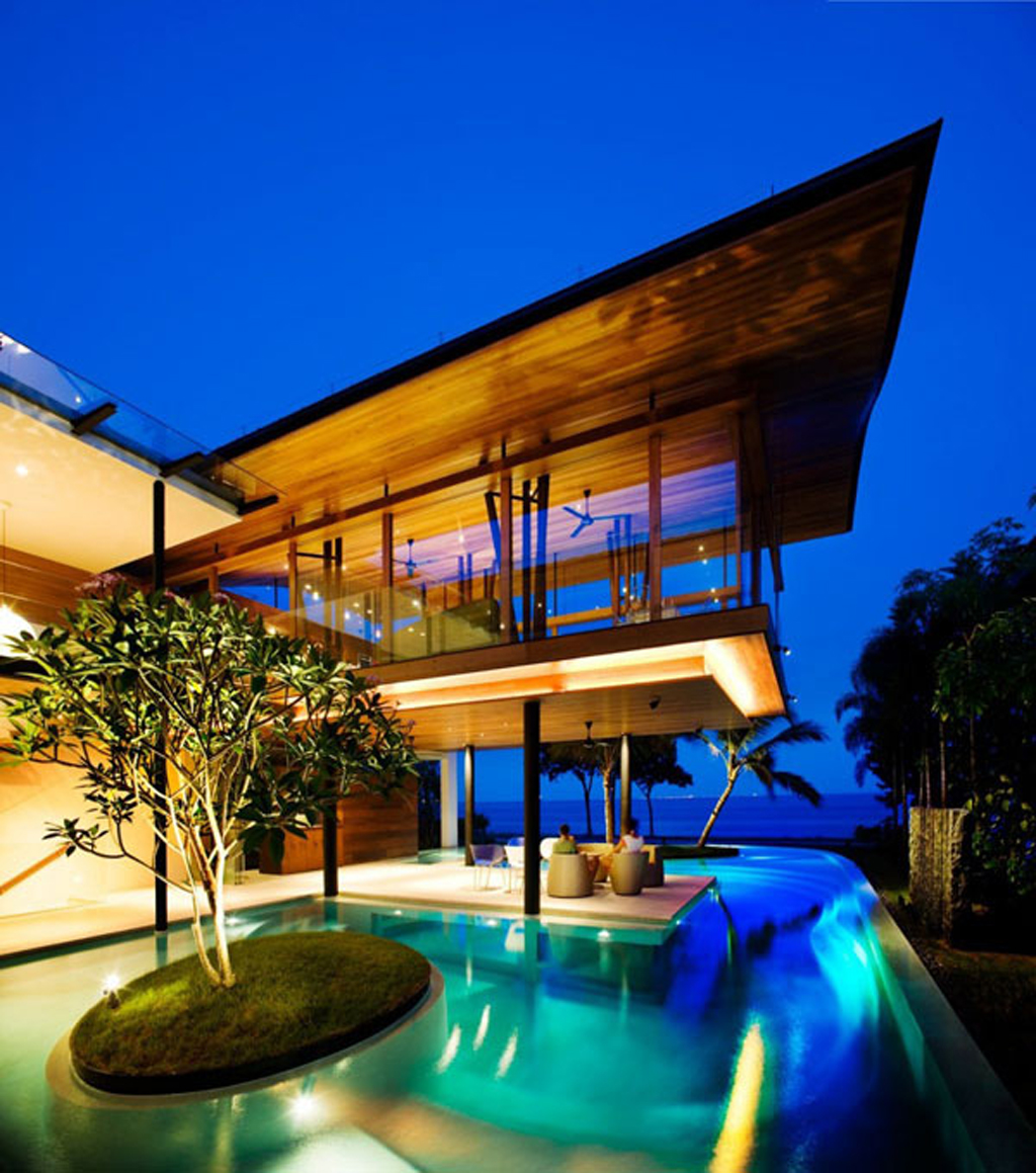 Home Design Ecological Ideas: Modern Lavish Beach House Design Ideas