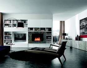 modern living room storage designs