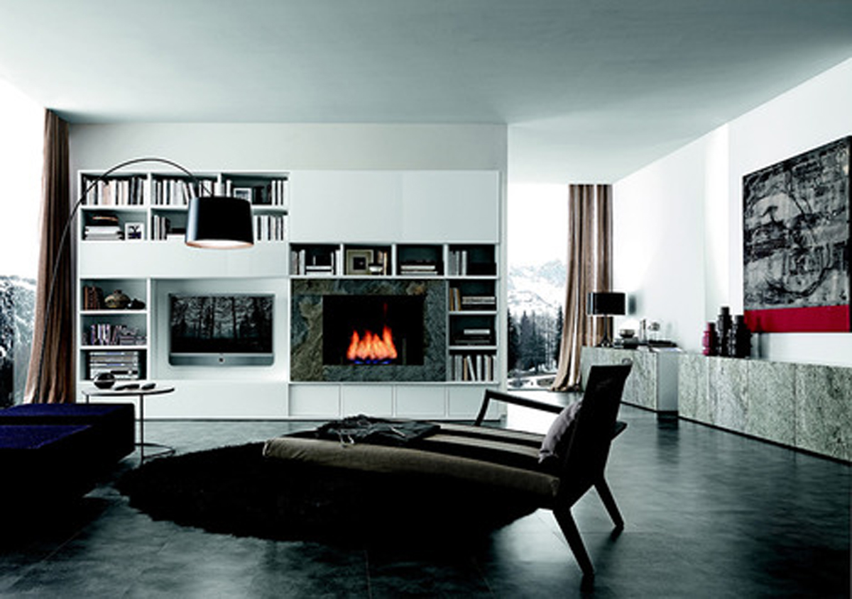 Modern living room storage designs for New living room designs