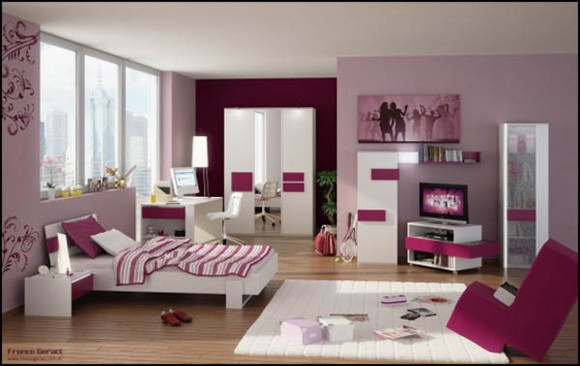 modern loft space decor for girl room