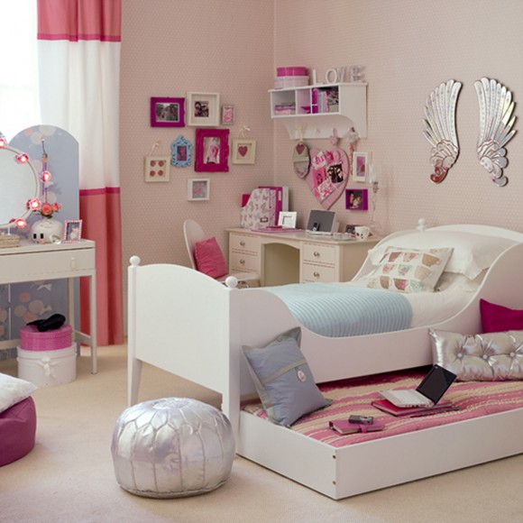 pink inspirational teenage bedroom decor