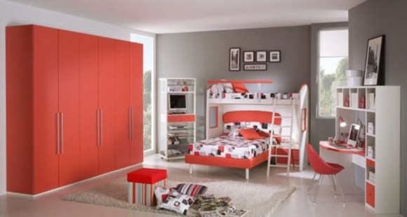 red passion teen room color scheme