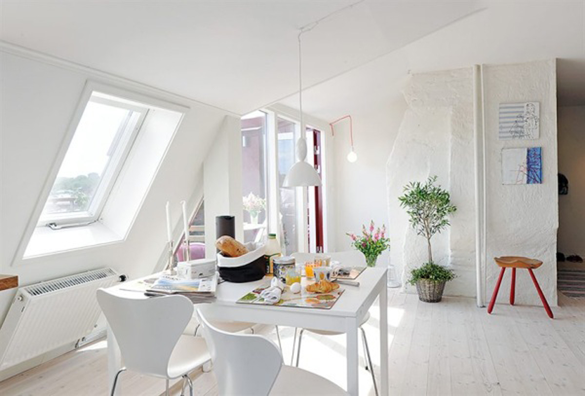 White dining room small apartment layouts - Small apartment dining room ...