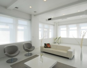 white interior for modern apartments