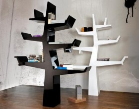 black and white book shelving plans