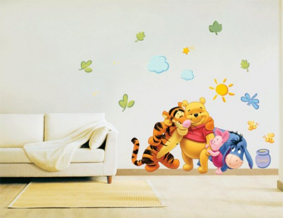 cartoon character wall sticker plans