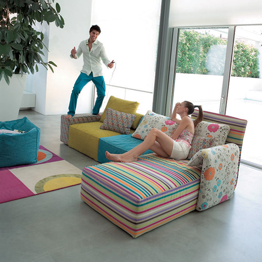 Colorful sofa set designs for Colorful living room sets