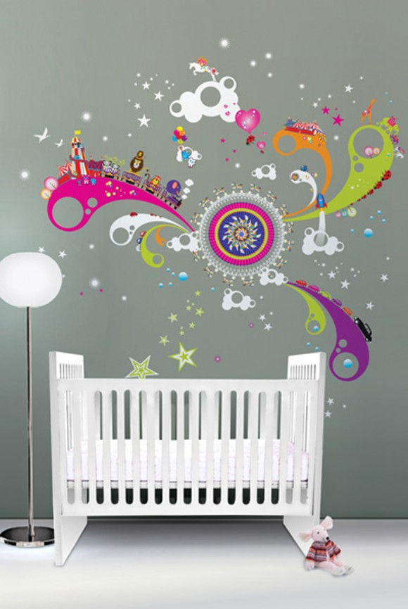 creative wall decal layouts
