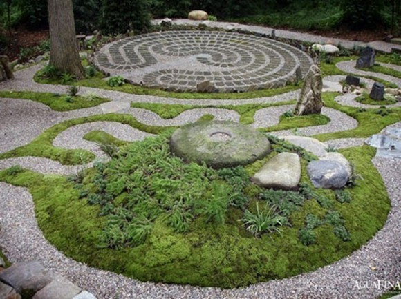 decorative garden designs with Asian taste decor