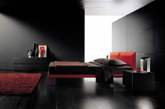 exclusive black bedroom decorations