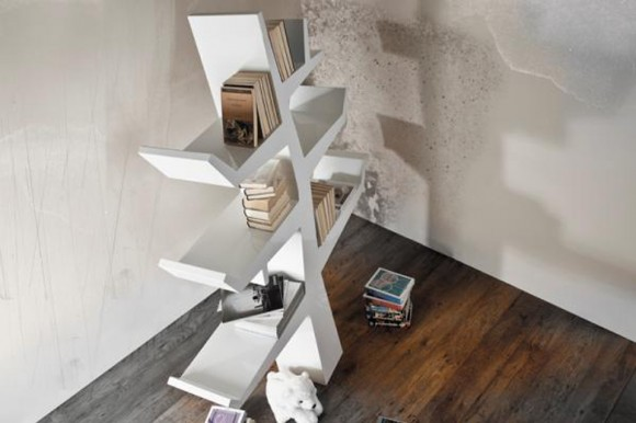 modern tree bookshelf designs