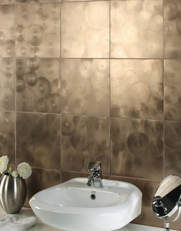 shiny wall tile decor ideas
