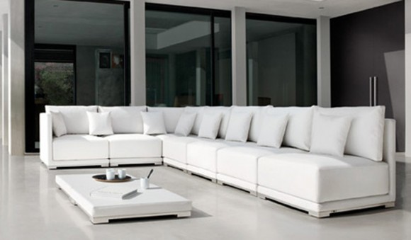 white sectional sofa design ideas
