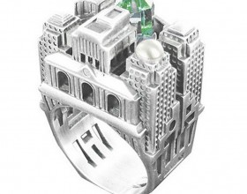 beautiful architectural ring features