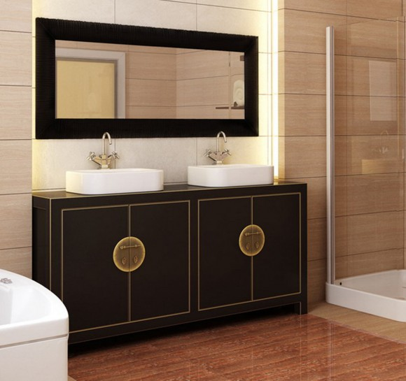 black bathroom appliance ideas