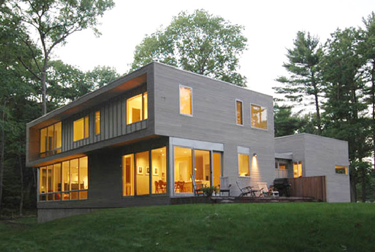 Contemporary forest house designs for Forest house