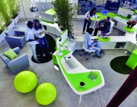 futuristic office workspace pictures