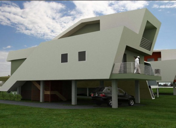 minimalist house for disaster victim plans
