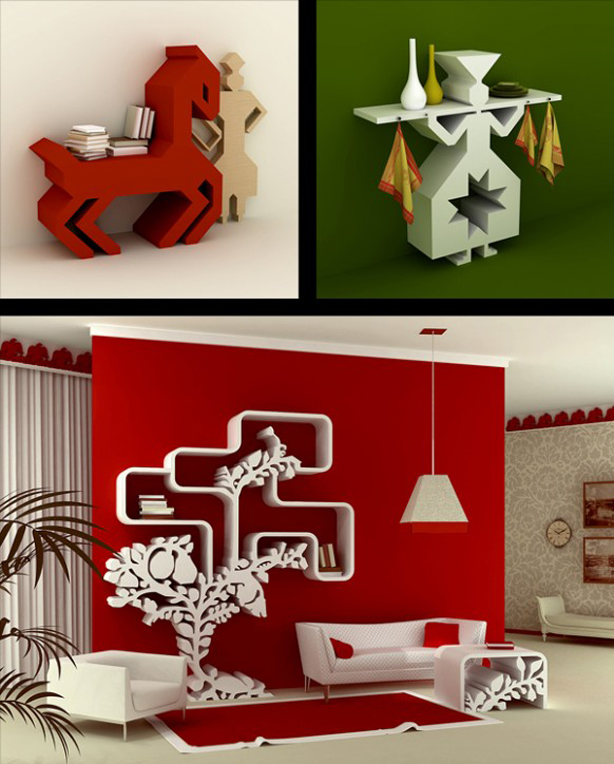 Modular Wall Shelf Designs with Unique Floating Ideas - Iroonie.
