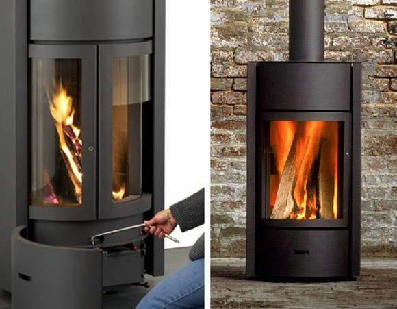 modern wood burning stove designs
