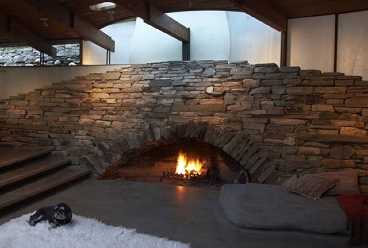 Unique Stone Fireplaces Design Ideas 1200 x 808