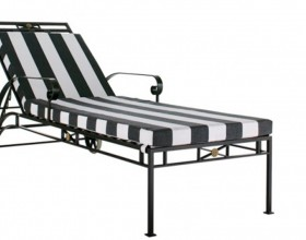 black and white sun loungers decor
