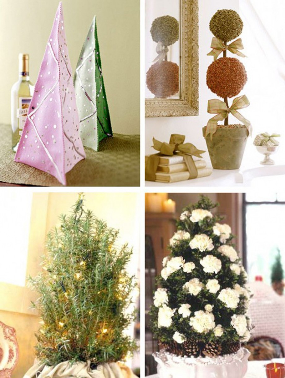 contemporary christmas tabletop decorations