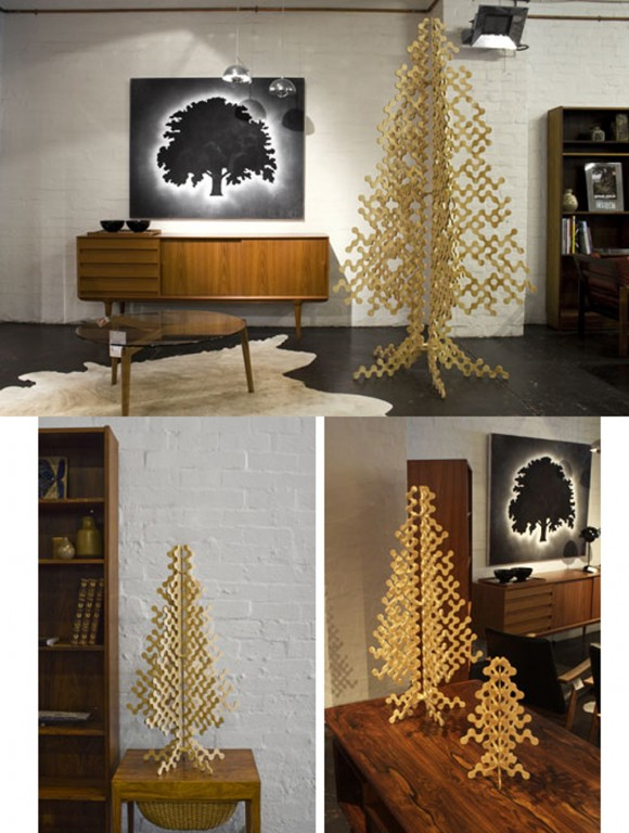 contemporary wooden Christmas tree plans