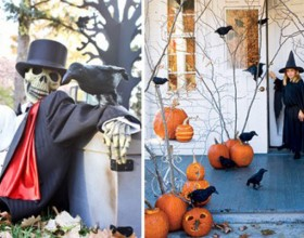 decorative outdoor Halloween decorations