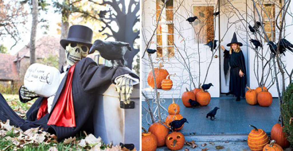 Decorative outdoor halloween decorations ideas for Decoration exterieur halloween