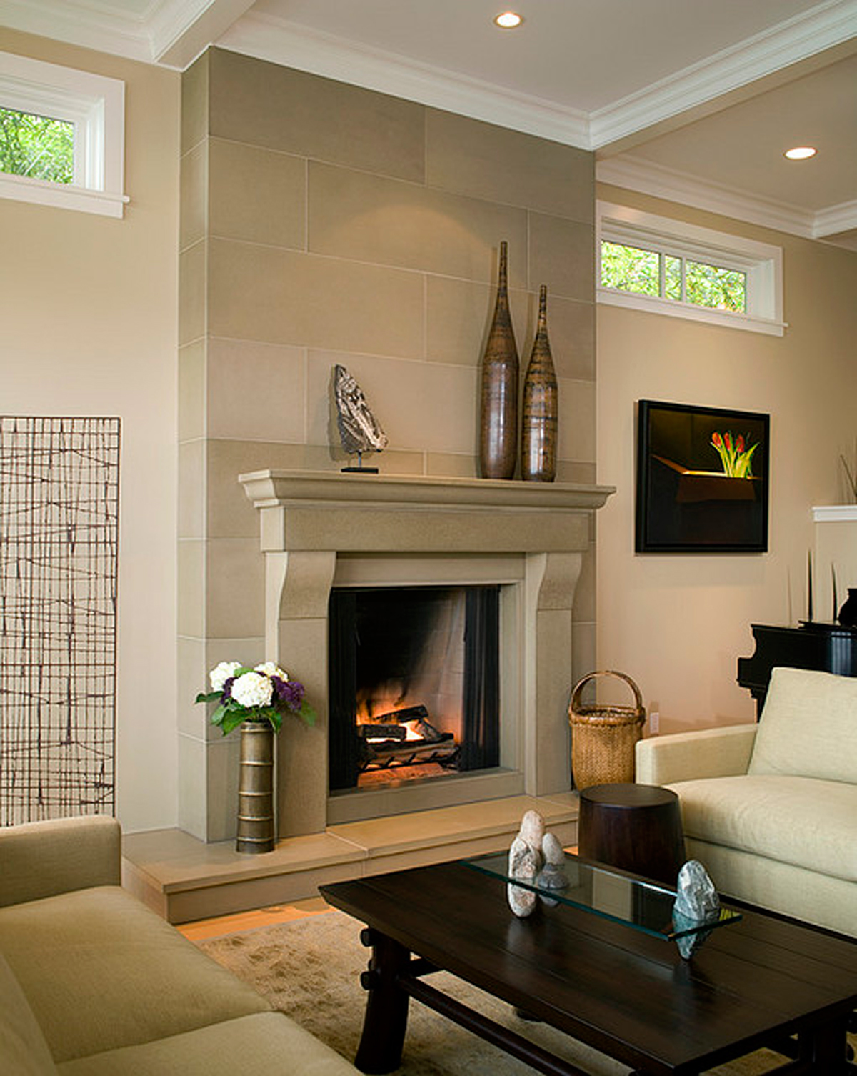 stone fireplace design ideas - Fireplace Design Ideas With Tile