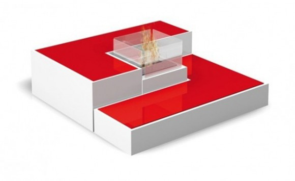 Modern Fireplace Table Designs with Fashionable Tetris ...