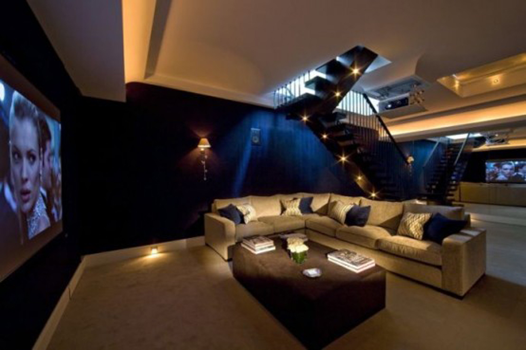 modern home theater designs. Black Bedroom Furniture Sets. Home Design Ideas