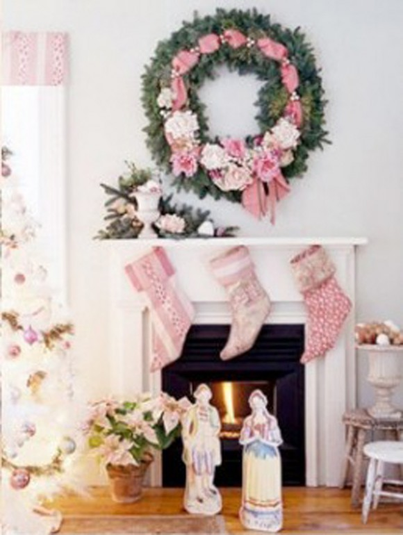 pink christmas stocking decorations