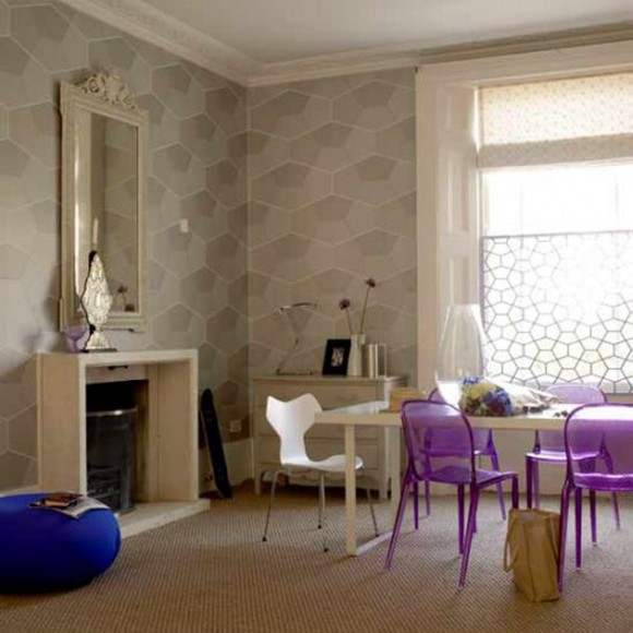 purple dining room decorations inspirations