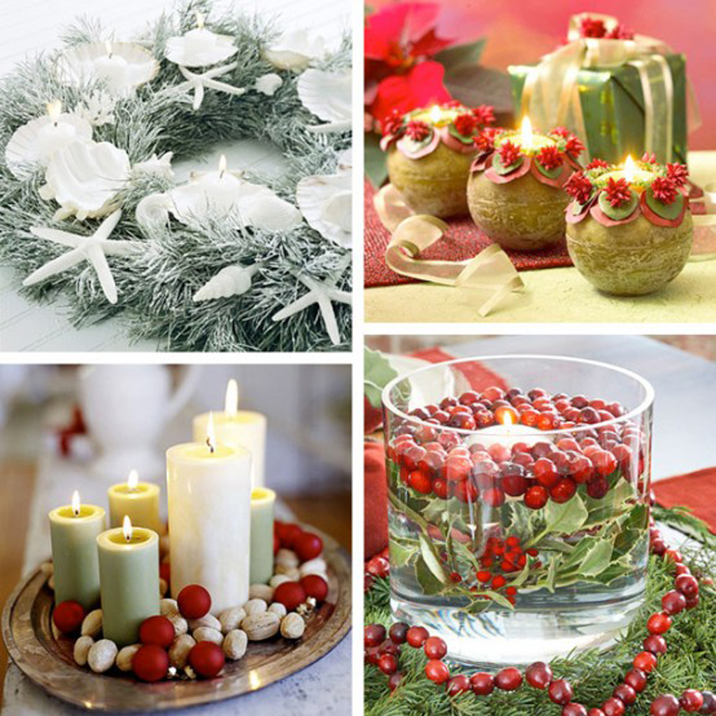 Holiday Decorating Endearing Of Christmas Candle Decoration Ideas Pictures