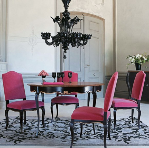 stylish pink dining room pictures