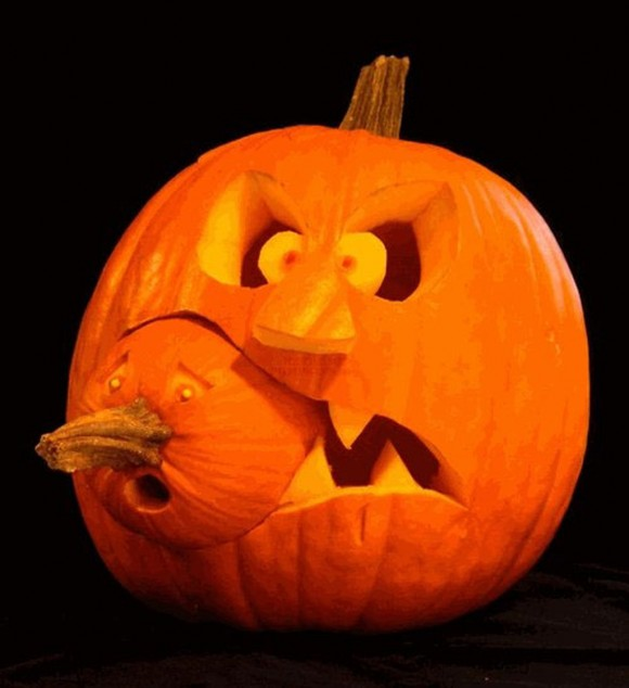 Unique Halloween Pumpkin Carving Designs With Double