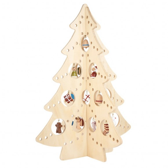 unique wooden christmas tree ideas