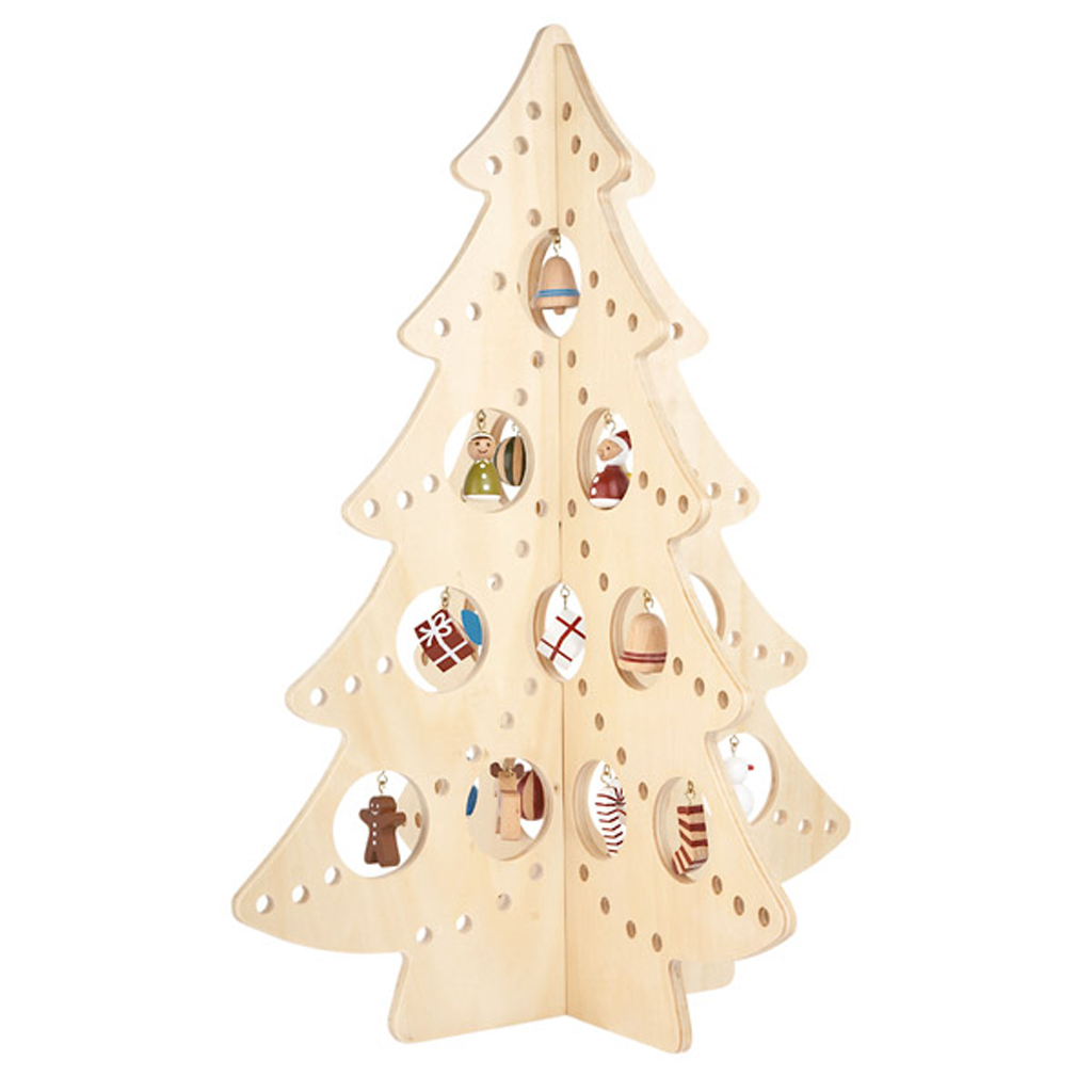 Unique wooden christmas tree ideas for Wooden christmas decorations