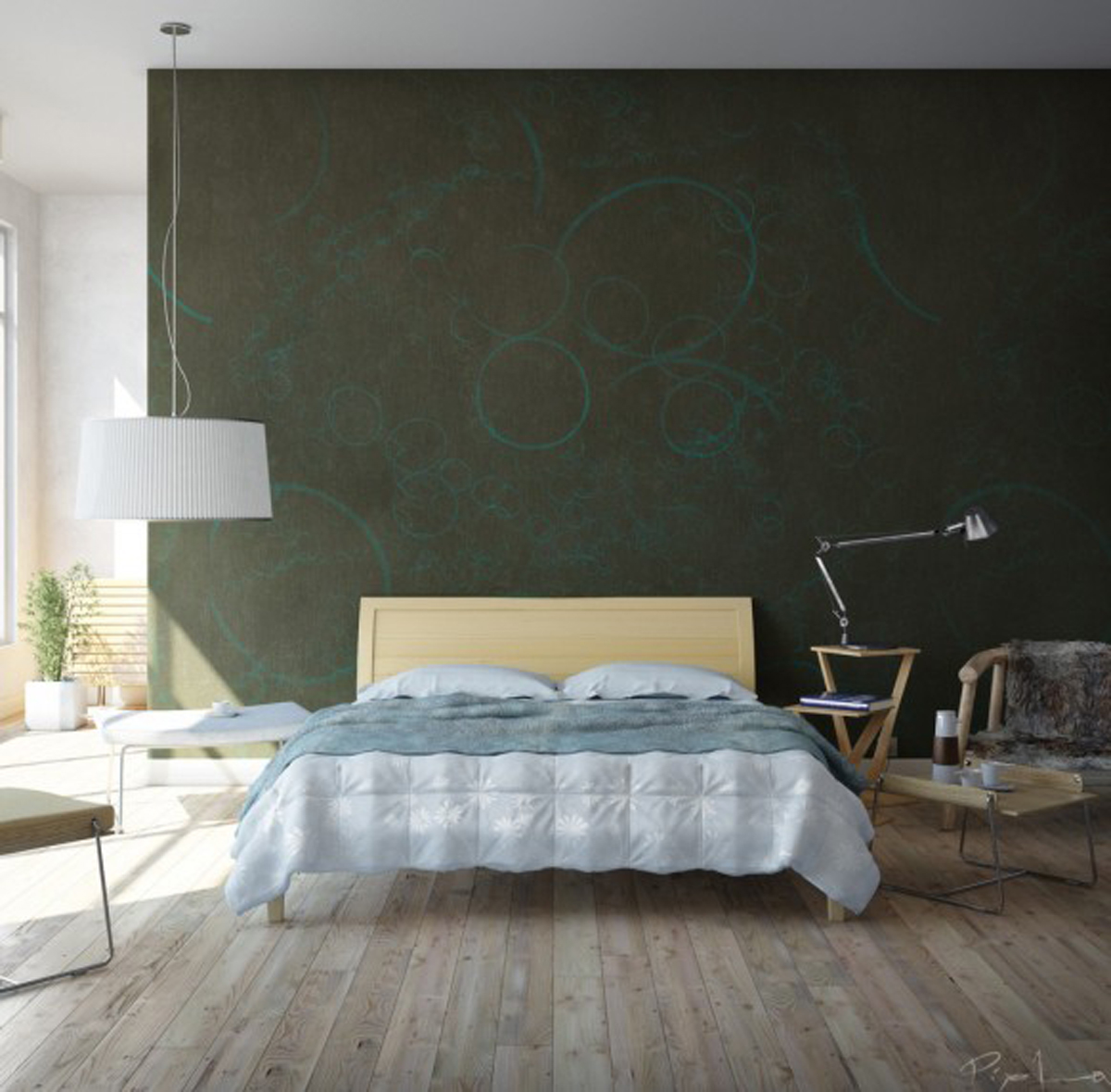 warm and simple bedroom layouts