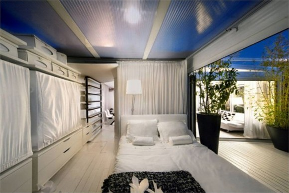 white bedroom apartment decor