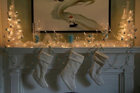 white christmas stocking decorations