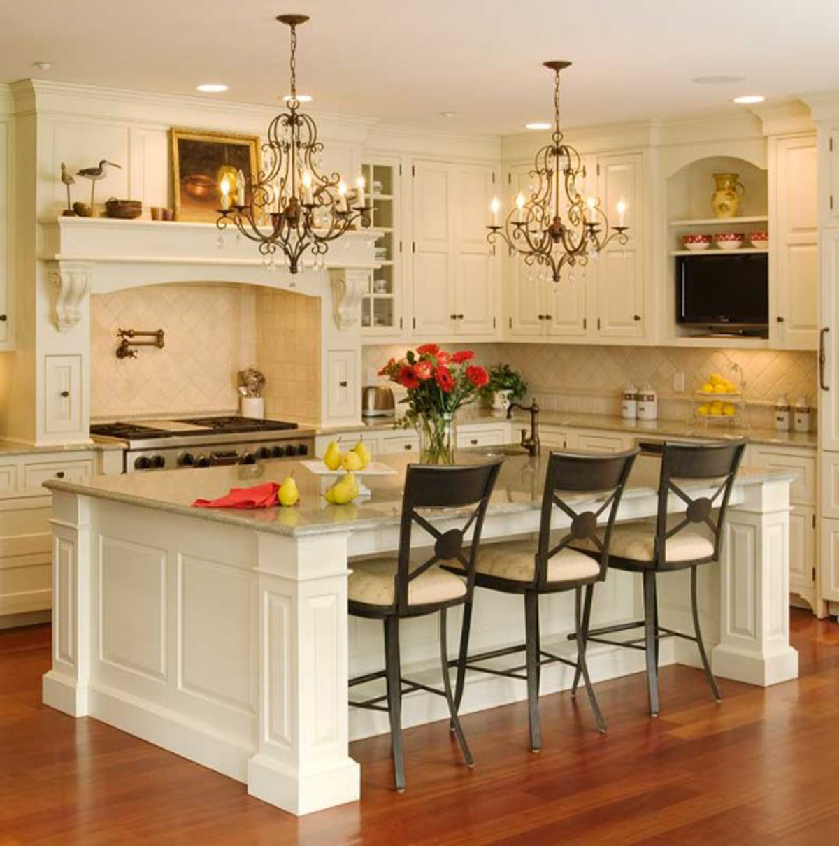 White island kitchen backsplash ideas for Kitchen island designs