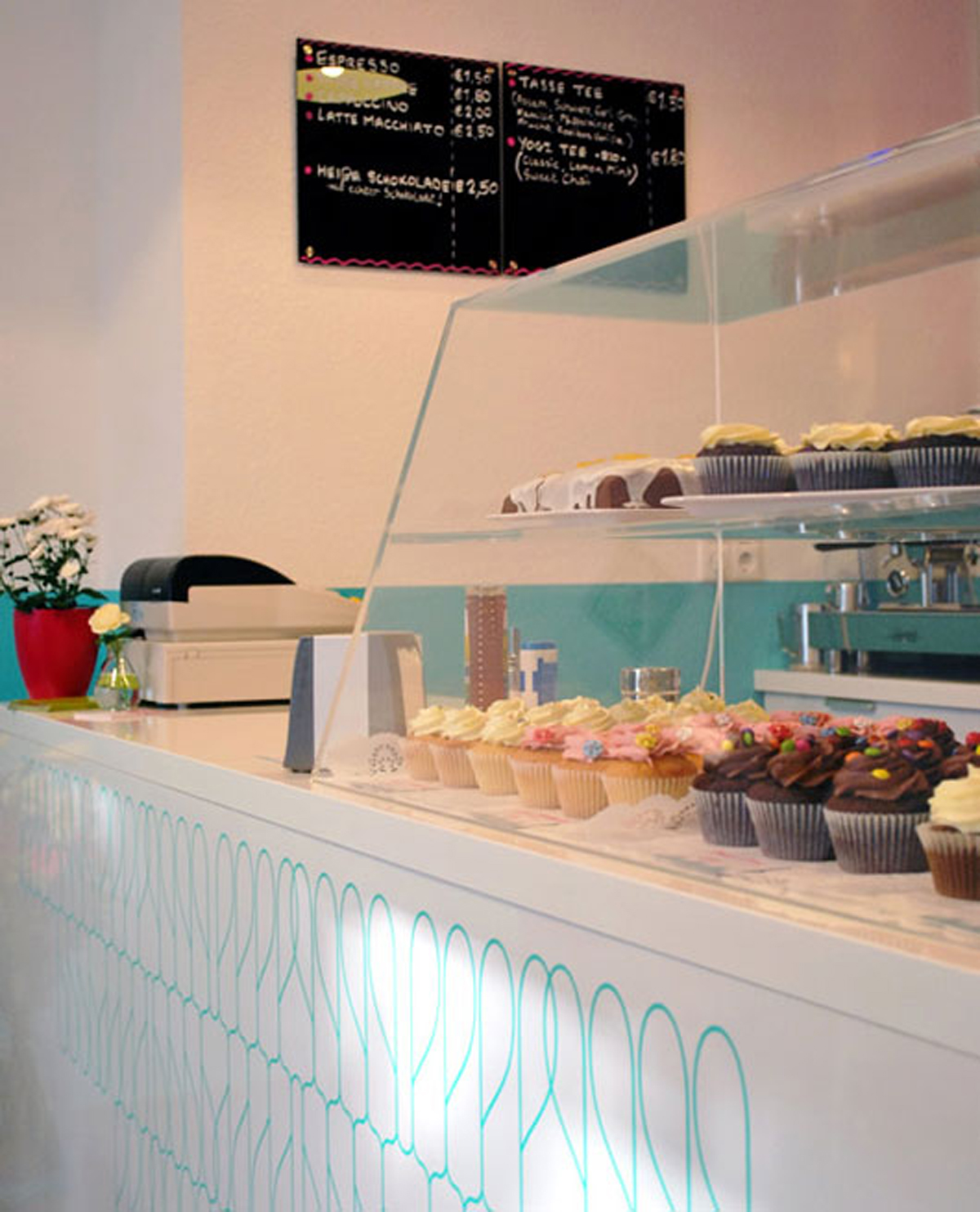Clean and clear cake shop ideas for Shop ideas design