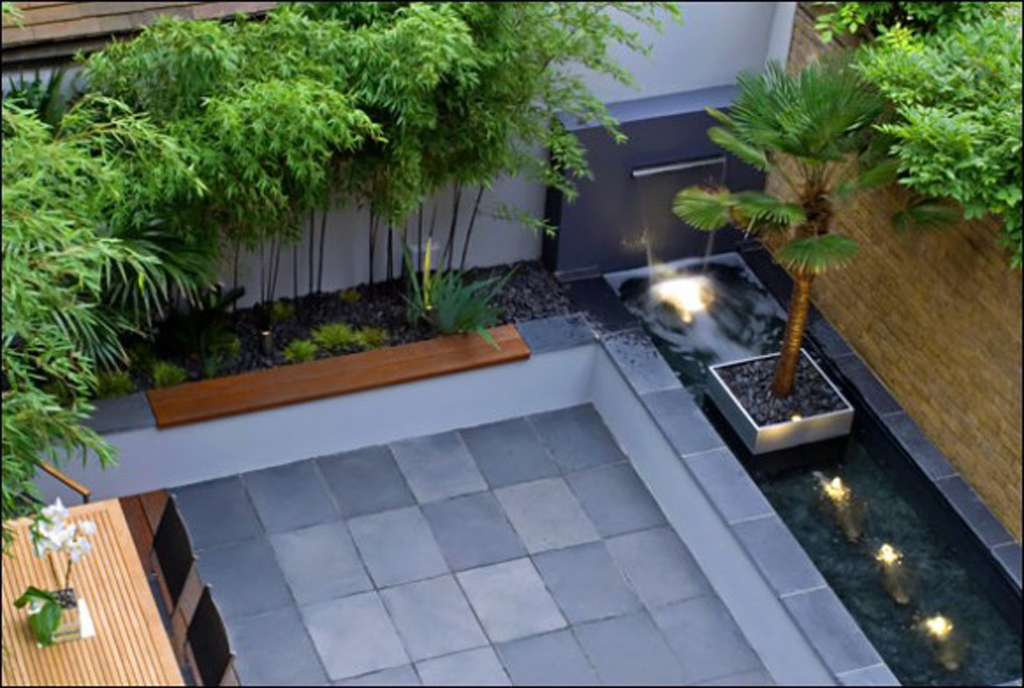 Contemporary backyard decorations plans for Contemporary garden design ideas