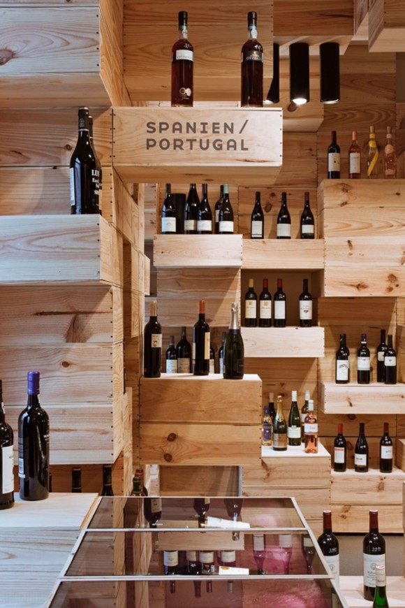 contemporary wine store designs