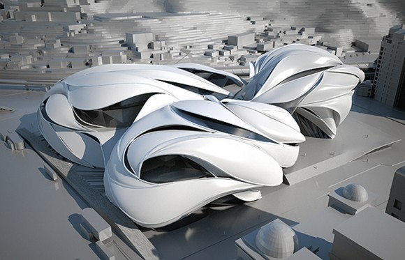 futuristic taipei performing building designs